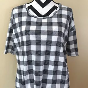LuLaRoe Irma XS Plaid
